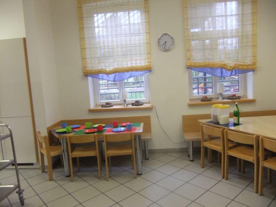 Sitzgelegenheiten in der Küche.